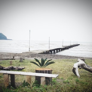2017年10月 千葉 原岡桟橋 木製の桟橋。 天気が悪かったのが残念。