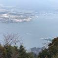 2019.3.12 弥山山頂から見た宮島桟橋