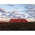 2019年3月22日 #ウルル #オーストラリア 夕焼けで赤くなったエアーズロック ☻