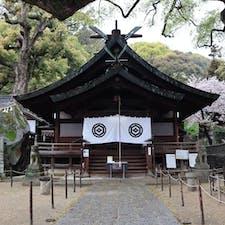 2019.4.10 千光寺へ行くロープウェイ乗り場のすぐ隣にある艮神社