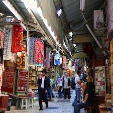 アラブ人街を颯爽と歩くユダヤ人男性@エルサレム🇮🇱