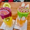 #アートスムージー#スムージー #ランチ #カフェ #愛知 #名古屋 #アート   店↓ #JTRRDcafe#ジェイティードカフェ  着色料不使用 砂糖不使用  のスムージーです(^^)