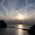 西伊豆 堂ヶ島 夕焼け  雲が幻想的