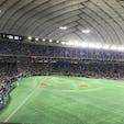 東京ドーム バルコニー席(1塁側)からの眺め 真下には外野席ライト側があります。