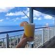 恋人岬とタモン湾が見える絶景カフェレストラン「テラザ」! 風が気持ちよくて最高の時間でした。  #グアム #カフェ