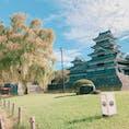 #松本城#観光  とても天気がよく、綺麗に撮れました☆