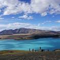 ニュージーランド テカポ湖 ミルキーブルーが特徴的 美しいー!!