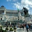 #ローマ #ヴィットーリオ•エマヌエーレ二世記念堂 #バスの車窓