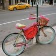 New York / Manhattan Soho  SOHOで見かけた、アパレルショップ「free people」の宣伝?!自転車がとってもキュート♪  #freepeople #newyorkcity #ニューヨーク旅行 #ilovenewyork