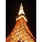 ライトアップされた東京タワー🗼
