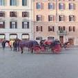 スペイン広場♡ 馬車もなじんでます❁︎