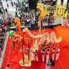 香港🇭🇰香港国際空港 旧正月に香港に行ってみました。 おめでたい🐉お出迎えにいいタイミングで遭遇しました🐲