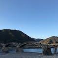 広島へ旅行に行ったとき🍁 行く予定のなかった錦帯橋へ ええですな〜