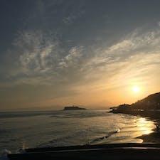 ゴールデンウイークの夕方の江ノ島です