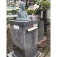 前島密翁記念ポスト 「郵便の父」と言われ、1円切手にもなっている前島密の像がのるポストです。 前島密の墓所である浄楽寺(横須賀市)前に、没後95年を記念して2014年に設置されました。  #ポスト #変わりポスト #前島密 #神奈川県 #横須賀市 #浄楽寺 #郵便局