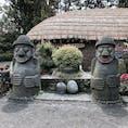 チェジュ島 民俗村。 昔ながらお家。