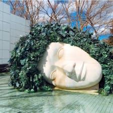 #箱根彫刻の森美術館 #箱根 #神奈川 2017年2月  野外美術館大好き人間には最高の空間😆😆 入ってすぐに #嘆きの天使 が✨  もっと顔全体が濡れているようなイメージだったのに 目のところだけ水が流れていて本当に泣いてるみたい😢