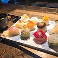 道後温泉、ハイカラ通りにあるお店にて手まり寿司👌