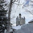 雪の美術館❄️ アナと雪の女王の世界観! 旭川の街並みに、突然お城が現れます。  #北海道 #旭川 #雪の美術館 #アナと雪の女王
