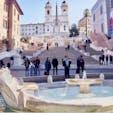 #スペイン階段 #ローマ #イタリア 2017年2月  夕方に行ったら人が多すぎたので翌朝リベンジ👊 #ローマの休日 ファンとしてはここは堪らなかった😊💕  #バルカッチャの噴水 で待ち合わせとかいいなあ
