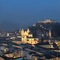 ザルツブルクの夜景 寒さも吹き飛ぶ綺麗さでした!!