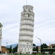 Torre di Pisa ピサの斜塔 Piazza del Duomo ピサのドゥオモ広場 Pisa ピサ Italy イタリア World Heritage Site 世界遺産 本当に結構な角度で斜めになっていた塔、これに登るのは怖過ぎる