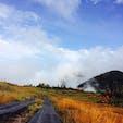 弥陀ヶ原です。雲が沸き立つ草原。