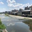 鴨川 四条大橋からの眺めです。