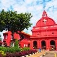 マラッカ スタダイス 有名なピンクの教会。  #世界遺産