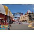 シドニーのルナパーク。とってもレトロで昔の映画にでてきそうな遊園地でした。  #シドニー #遊園地