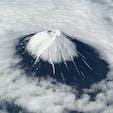 富士山✈️  飛行機から見る富士山は最高✨