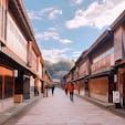 石川、西茶屋街!朝だから人が少ない!
