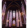 2019.6.7 パリ サントシャペル大聖堂  #paris#パリ#サント・シャペル大聖堂#ステンドグラス