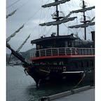 黒船来航 鎖国当時、こんなのがやってきたら さぞかしびっくりしたんだろうな  #黒船遊覧船 #ペリー提督 #伊豆下田