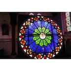 博物館 明治村にあった大きなステンドグラス!綺麗でした〜✨