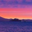 日没後のアルカトラズ島