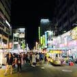 Ningxia night market 寧夏路夜市 Datong District 大同区 Taipei City 台北市 Taiwan 台湾 台北市街地にあるコンパクトな夜市で、観光客も地元民も半々で程よいローカル感が良い!