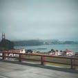 霧の中のゴールデンゲートブリッジ