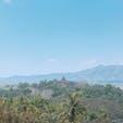 ジョグジャカルタ  丘から見るボロブドゥール