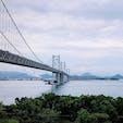 2019.7.1 大鳴門橋  徳島方面から撮っていて向こうは淡路島
