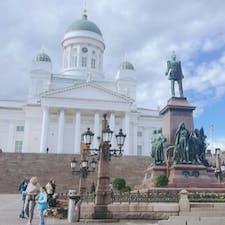 ヘルシンキ大聖堂   ヘルシンキの空気は澄んでいて何度でも訪れたいと思う国でした
