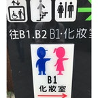 台湾のトイレ案内。可愛いですね。