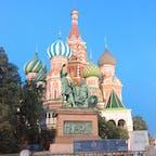 赤の広場  ずっと行ってみたかったところでした✨ モスクワには計10日間滞在していたためゆっくり観光できました。