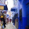 モロッコ シェフシャウエン、青い街