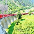 スイス ベルニナ急行に乗って ブルージオ橋