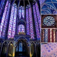 フランス パリ サントシャペル ステンドグラスはもちろん、床、天井、壁紙、柱、、全て💜💙💛です