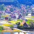 日本の世界遺産の中でもっとも感動した富山県五箇山の合掌造り集落。世界遺産指定された集落は2つあり、20棟の合掌造り家屋が現存している「相倉合掌造り集落」では、集落の全景を撮影することができます。#富山県 #五箇山