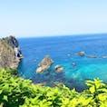 島武意海岸に行きました! 本当に海が青くてビックリです!積丹と言えば雲丹ですね!