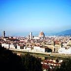 ミケランジェロ広場から見たフィレンツェの街