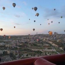 トルコ  カッパドキアの気球ツアーからの絶景